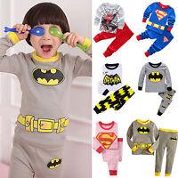 2PCS Cartoon Baby Kids Boys Girls Nightwear Sleepwear Toddler Pj's Pajamas Set