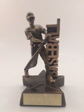 MALE BASEBALL RESIN!  FREE ENGRAVING!  SHIPS IN 1 BUSINESS DAY!!