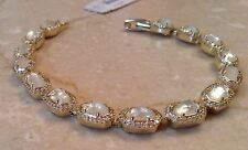 NWT Kendra Scott 'Cole' Wedding Bracelet in Gold~Mother of Pearl~Crystals~$250