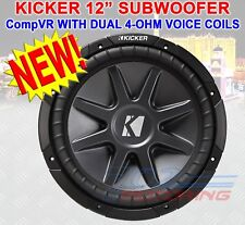 "KICKER 10CVR124 CAR 12"" SUBWOOFER/SUB WOOFER CVR12 4-OHM 10CVR12 2010 10 CVR124"
