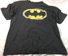 Batman logo black short sleeve T-shirt, size L