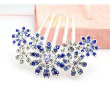 Women Wedding Bridal Party Crystal Rhinestone Diamante Hair Comb Clip