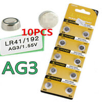 10X AG3 LR41 392 SR41 192 1.5V Alkaline Button Coin Cells Watch Battery Sturdy J