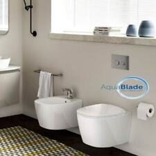 Sanitari sospesi Ideal Standard Dea Bianco Matt vaso Aquablade,bidet e coprivas