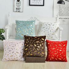 """18"""" Gold Pillow Cover Case Waist Cushion Sofa Throw Plush Home Car Decor Gift"""