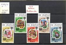 Nicaragua - 1980 Nr.2080/4-a**  M.-35,90€- mit rotem Aufdruck