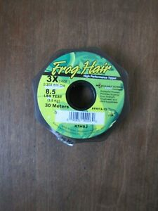 Fly Fishing Frog Hair Tippet - 3x- 8.5lb test - 30 meters