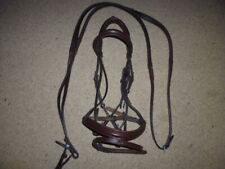 Jeffries Wembley Pro Comfort Flash Snaffle Bridle + Rubber Reins brown cob size