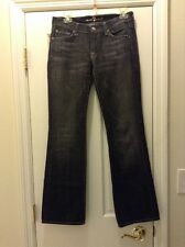 SEVEN 7 FOR ALL MANKIND JEANS SIZE 27 BOOT CUT CHARCOAL GRAY BLACK AWESOME