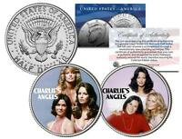 CHARLIE'S ANGELS * TV SHOW * JFK Half Dollar 2-Coin Set Jaclyn Smith