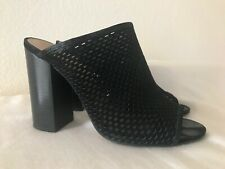 5de8eb13320 Aldo Thiasa Black Leather Slide Sandals Shoes Mules HEELS Women s US 7 EUR  37.5