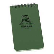 """RITE IN THE RAIN GREEN  3"""" X 5"""" ALL WEATHER WATERPROOF NOTEPAD FIELD NOTES N935"""