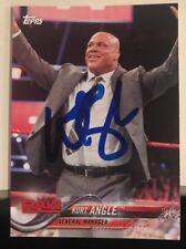 Kurt Angle Signed WWE Topps 2018 Card Olympic