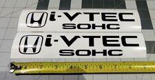 "Honda I-Vtec SOHC Decal Stickers Set of 2 Civic Accord CUSTOM CRX SI Black 9"""