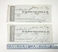 Pair of 1867 Receipts from Ford & Perry to the United States Express Company