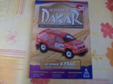 MAGAZINE LEGENDE DU DAKAR N°20 NISSAN X-TRAIL 2002 JOHNNY HALLYDAY