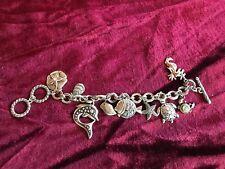 Sea Creatures Fish, Seahorse, Sea Star, Dolphin, Turtle, Charm bracelet