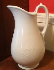 T&R Boote Antique White English Ironstone Mocha Toilet Set Water Pitcher 1863
