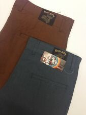 Chino Trousers Mens Button Fly  sizes 30-36 waist Vintage Micro Check Cotton