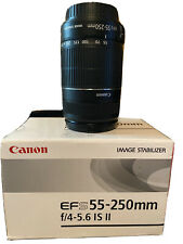 Canon EF-S 55-250mm f/4-5.6 IS II Lens with box