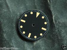 Plain Milsub Watch Dial for DG 2813 Movement w/o date Orange LumeT   25