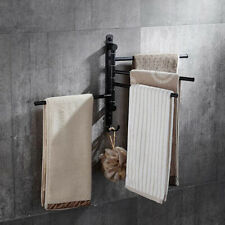 Bathroom Accessories Black Set Towel Rack Stainless Steel Hanger Wall Mounted