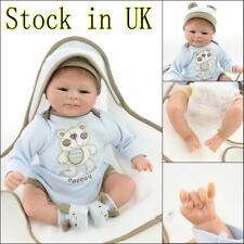 Reborn Doll Boy Baby Real Life Soft Vinyl Silicone Newborn Toddler Soft Silicone