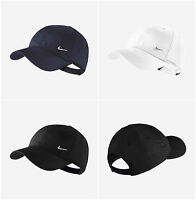Nike Boys Junior Swoosh Cap Kids Metal logo Baseball Golf Hat Black 6-12 Years