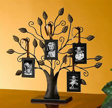 Family Photo Frame Tree Metal House Home Decor 4 Pictures Art Collage Holder New