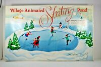 Department 56 Village Animated Skating Pond #52299 Tested Working EUC Flaw Tree