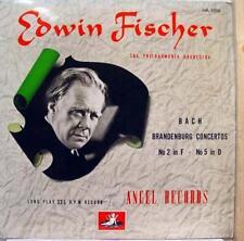 Fischer - Bach Brandenburg No. 2 No. 5 LP VG+ HA 1008 Vinyl Record Deep Groove