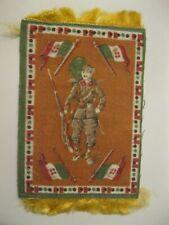 Antique FELT Tobacco RARE Premium Cigarettes 1900's Italian Flag Soldier Gun