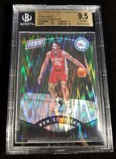 1/1- 5/5 BEN SIMMONS ROOKIE PANINI THE NATIONAL RC GREEN PRIZM REFRACTOR BGS 9.5