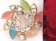 Ladies/Girls Crystals Flower Crystal Rhinestone Brooch new