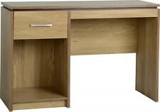 CHARLES OAK VENEER WITH WALNUT TRIM OFFICE COMPUTER DESK *FREE NEXT DAY DELIVERY