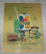 1959 ad page - Johnson's Glo-Coat floor wax rollerskate advertising vintage AD