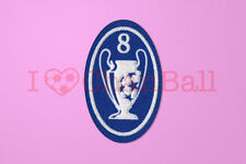 UEFA Champions League 8 Times Trophy (light blue) Sleeve Soccer Patch / Badge