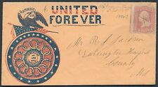 #64B ON UNION CIVIL WAR PATRIOTIC COVER #ST-536a BR762
