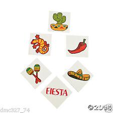 72 Fiesta Cinco de Mayo Party Favors Prizes Pinata Filler TEMPORARY TATTOOS