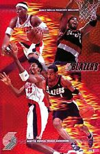 2001 Portland Trailblazer Collage Original Starline Poster OOP Pippen