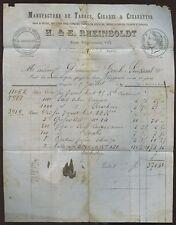 ALGERIA 1870 NAPOLEON 20c ILLUST.LETTERHEAD CIGARETTES