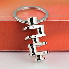 Polished Auto Part Model Rotate Crankshaft Link Keyring Key Ring Chain Keychain