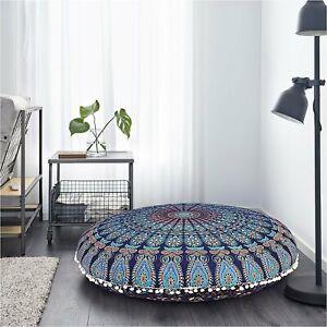 Handmade Mandala Floor Pillow Bohemian Indian Meditation Cushion Cover 82 Cm