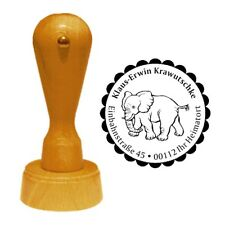 Stempel « ELEFANT 02 » Adressenstempel Motiv Tiere Zoo