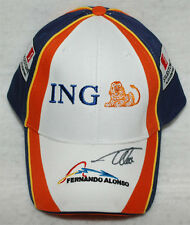 Fernando Alonso Signed Fernando Alonso ING Renault Cap Hat Autographed
