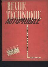 (C16) REVUE TECHNIQUE AUTOMOBILE MERCEDES 170D et Da / Compte rendu salon 1952