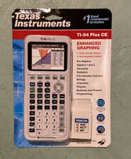 Texas Instruments TI-84 Plus CE Graphing Calculator White Brand New Sealed
