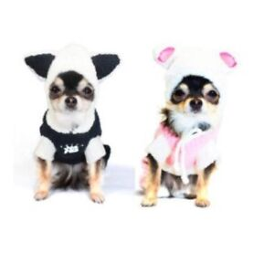 Hip Doggie Pink Bunny Dog Jumper / Pajamas Sz Large NWT