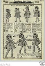 1933 PAPER AD Ideal Flossie Flirt Doll Mama Voice Talking Sleeping Eye