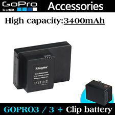 Gopro battery clip extra backup power 3400mAh for Gopro HD hero 3 3+
